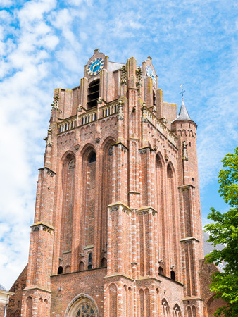 Tower of Great Church or Saint John the Baptist Church in old town of Wijk bij Duurstede in province Utrecht, Netherlands Stock Photo