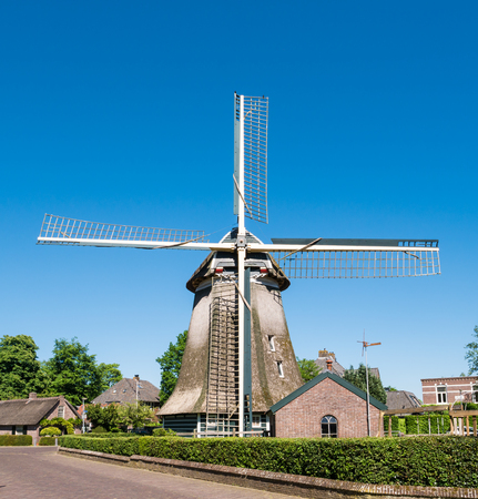Historic windmill in old town of Laren, het Gooi, North Holland, Netherlands