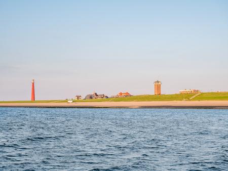 Lighthouse Lange Jaap at North Sea coast of Huisduinen near Den Helder, Netherlands Stockfoto