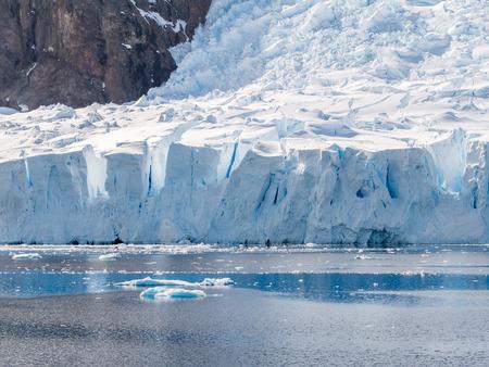 Deville glacier calving in Andvord Bay near Neko Harbour, Arctowski Peninsula, Antarctica