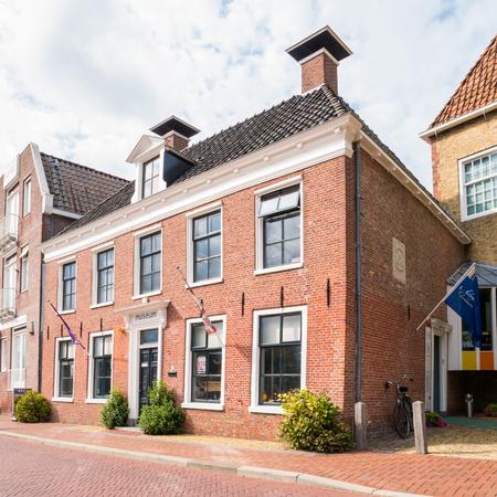 Museum in former Admiralty building in old town of Dokkum, Friesland, Netherlands