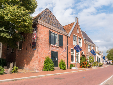 Museum in former Admiralty building in old town of Dokkum, Friesland, Netherlands
