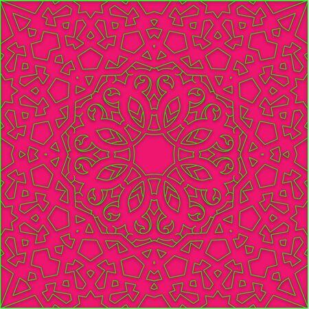 arabian ornamental carpet tracery