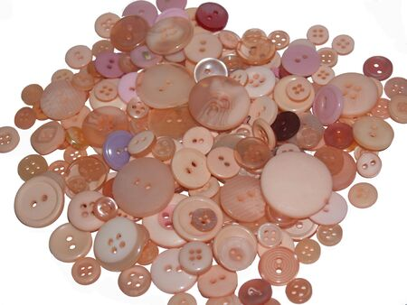 peach colored buttons