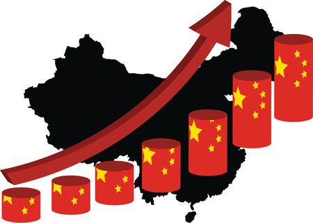 The Chinese Economy Is Climbing Ilustração
