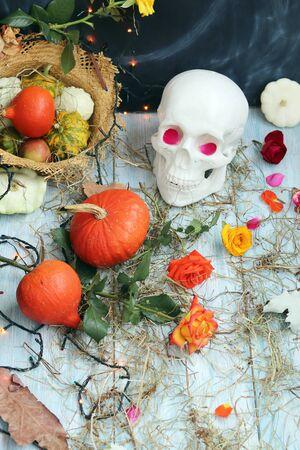 Halloween decorative mystical composition