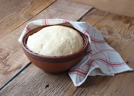 yeast: Yeast dough from flour, eggs, oil