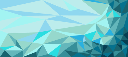 Background of polygons triangles in blue tones