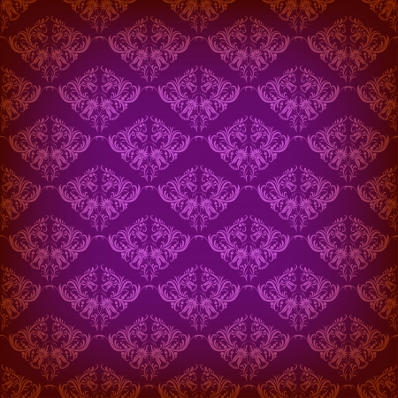 Seamless damask ornament of floral elements.  Royal wallpaper. Vector