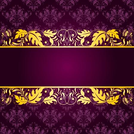 filigree: Filigree floral pattern on a purple background