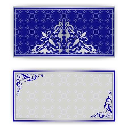 Plantilla para la tarjeta de felicitación, invitación en azul