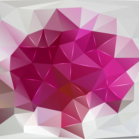 polyhedral: modern abstract pink polygonal.  Illustration