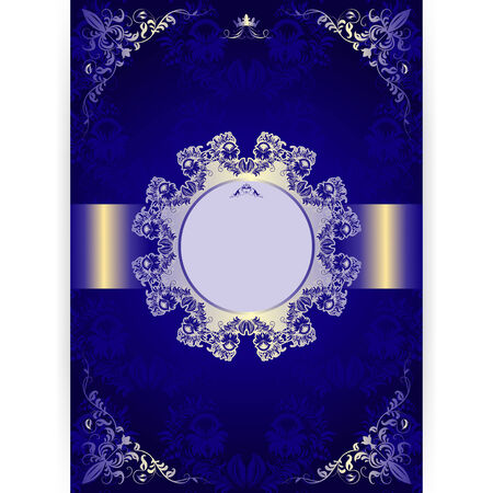 Vector royal invitation card in an old-style on seamless background Vector