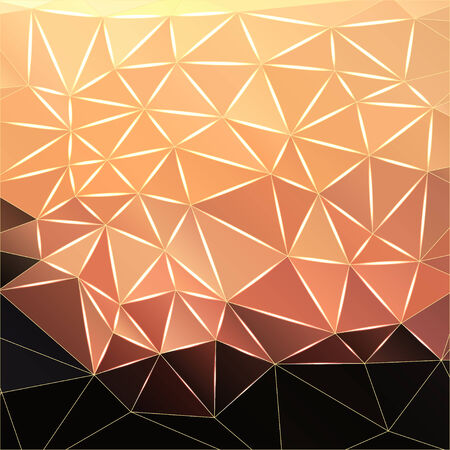 polyhedral: Modern abstract polygonal faceted background, vector