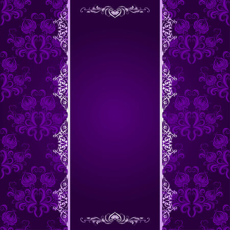 background with lace violet pattern, place for text Vector