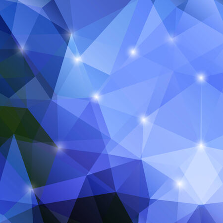 polyhedral: modern abstract polygonal background in blue