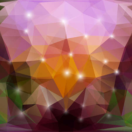 polyhedral: Abstract geometric background with polygons. Illustration