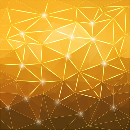 polyhedral: Modern geometric background with yelow polygons.