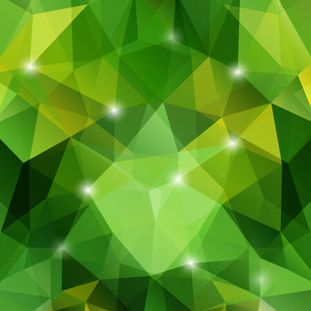 polyhedral: Modern geometric background with green polygons. Illustration