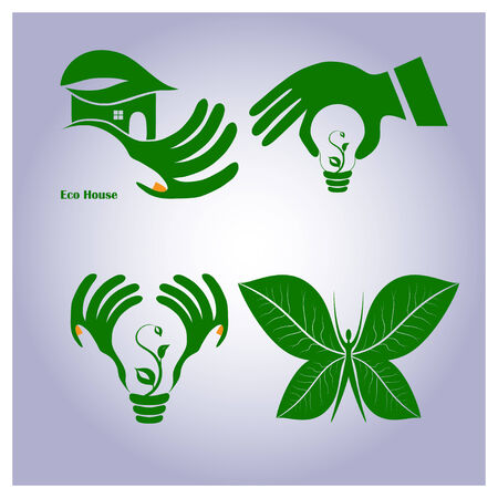 Set of ecology icons. Vector illustration Vector