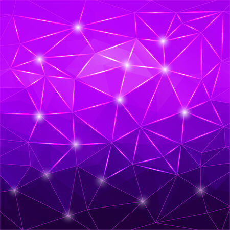 polyhedral: Modern geometric background with purple polygons for design Illustration