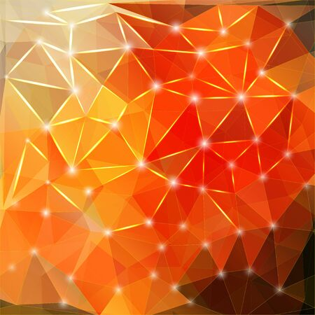 polyhedral: Modern geometric background with polygons, crystal
