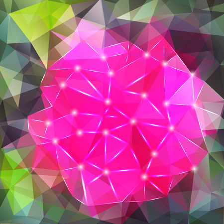 polyhedral: Abstract geometric background with polygons