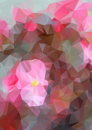polyhedral: Vertical abstract background with polygons for design, greeting card.
