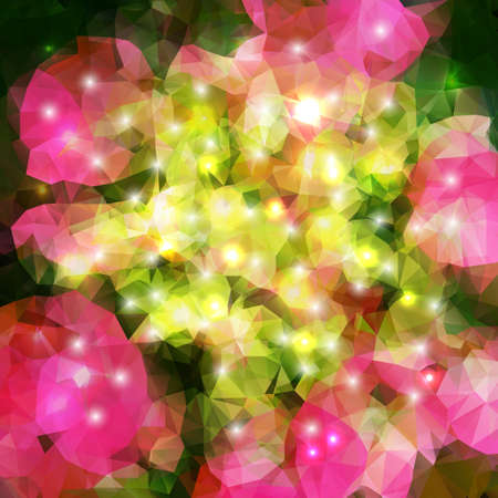 polyhedral: Vector abstract geometric bright background with polygons