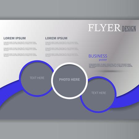 Vector Horizontal Flyer Template For Design Editable A4 Poster