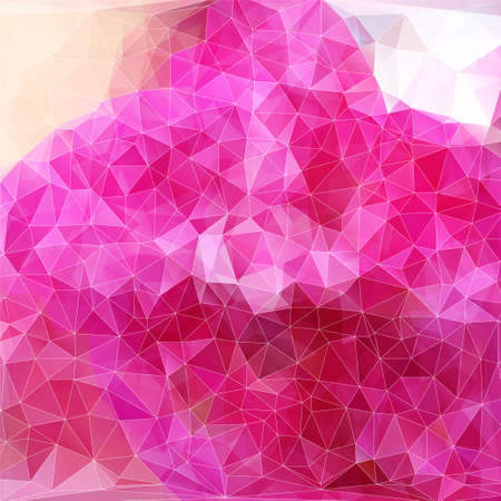 polyhedral: modern abstract polygonal background with pink color for  design Illustration