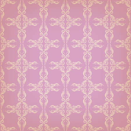 brocade: Vector vintage seamless background with decorative ornate for design