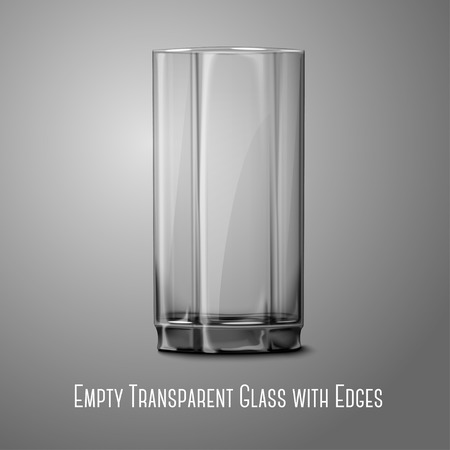 bourbon whisky: Realistic Vector glass isolated on gray. Transparent for every background.