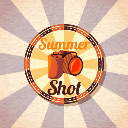 shots: Photo camera for summer shots. vector