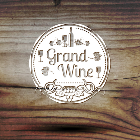 old styled: Old styled wine label for your business, shop, restaurant etc Illustration