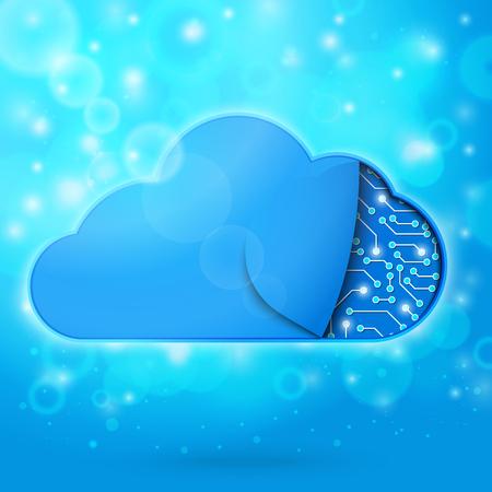 cloud technology: Cloud computing technology concept illustration