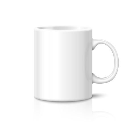 photo realistic: Blank photo realistic cup isolated on white background