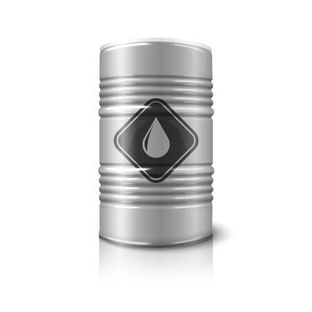 toxic barrels: Signo Petr�leo barril grande aislado en el fondo blanco