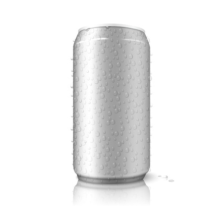 aluminium can: Aluminium can isolated on white background