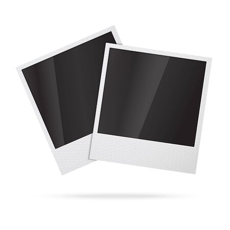 instant photo: Two blank vector instant photo frames Illustration
