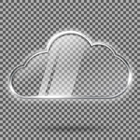 Transparente Zusammenfassung hallo Tech glänzendes Glas und Metall glänzend Sprechblase. Mit Platz für Ihren Text. Vektor-Illustration Standard-Bild - 57353635