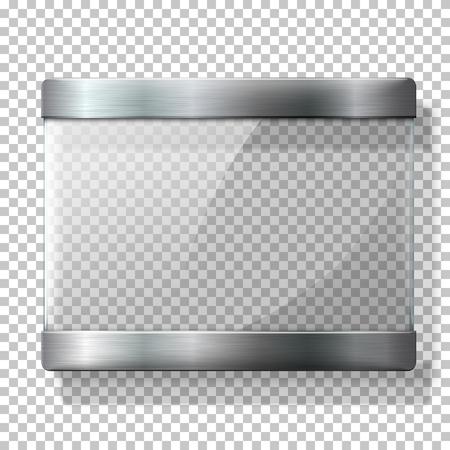 placa bacteriana: placa de vidrio transparente con soportes metálicos, por sus signos, en el fondo wplaid. Vectores