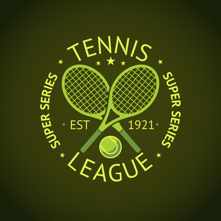 series: Tennis League super series label badge for your club. Illustration