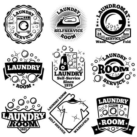 laundry room: Set of Laundry badges