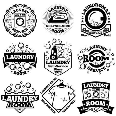 Set of Laundry badges