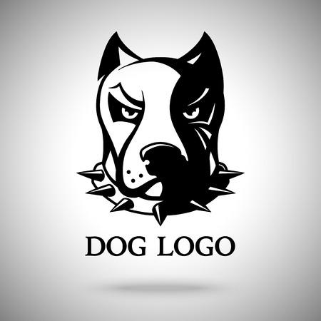 head collar: dark dog head in spiked collar
