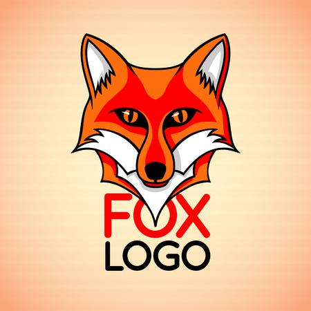 Abzeichen Zeichen Vorlage mit roten Fuchsgesicht Standard-Bild - 62747027