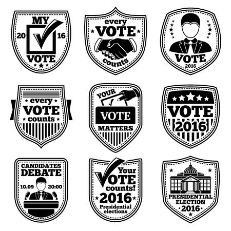 voter registration: set of vote labels