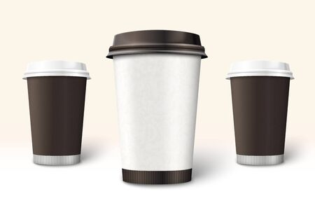 Vector Coffee cup template for branding and design