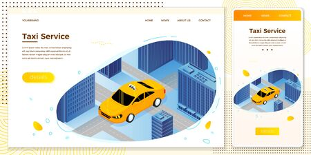 Vector illustration taxi cab riding for client Illustration